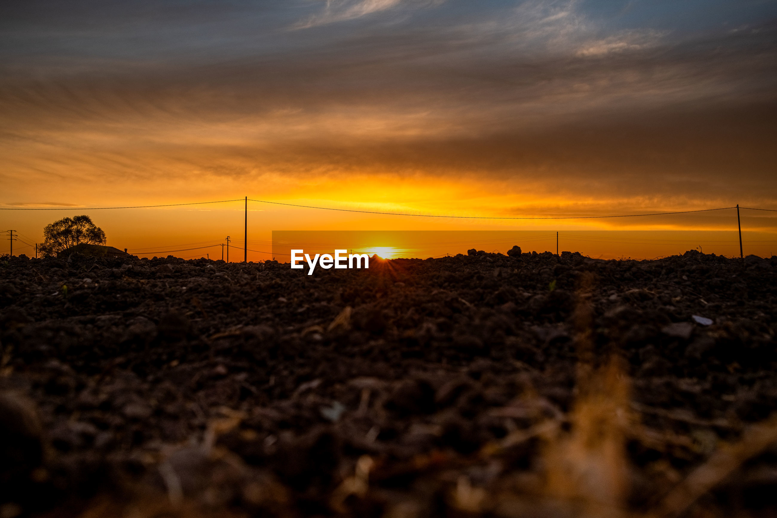 SCENIC VIEW OF FIELD DURING SUNSET