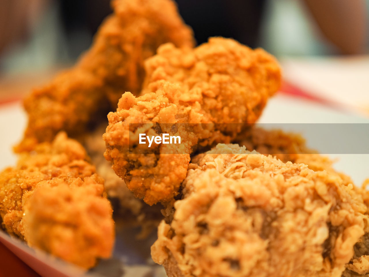 Close-Up Of Fried Chicken In Plate