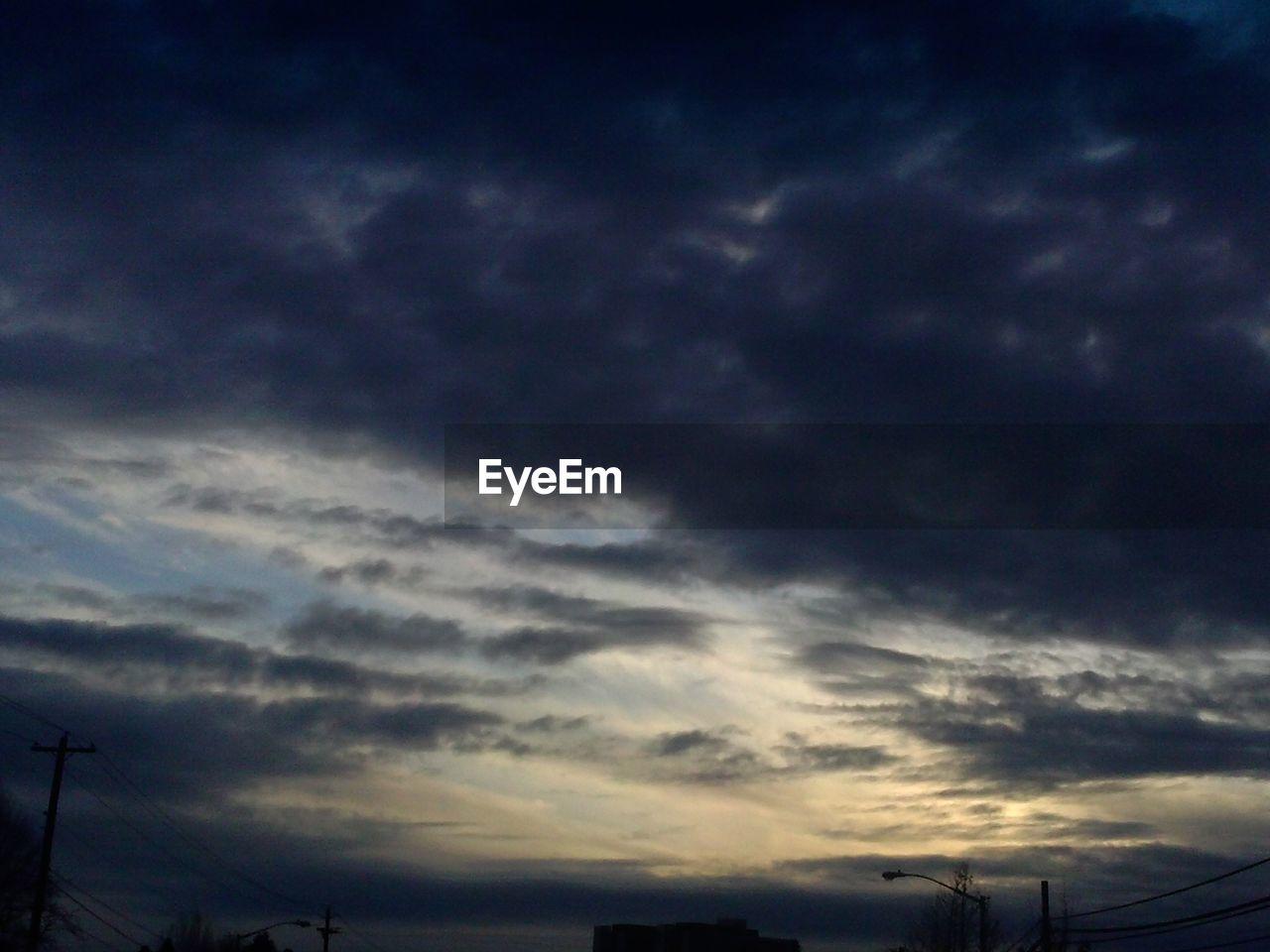 Clouds in dusky sky