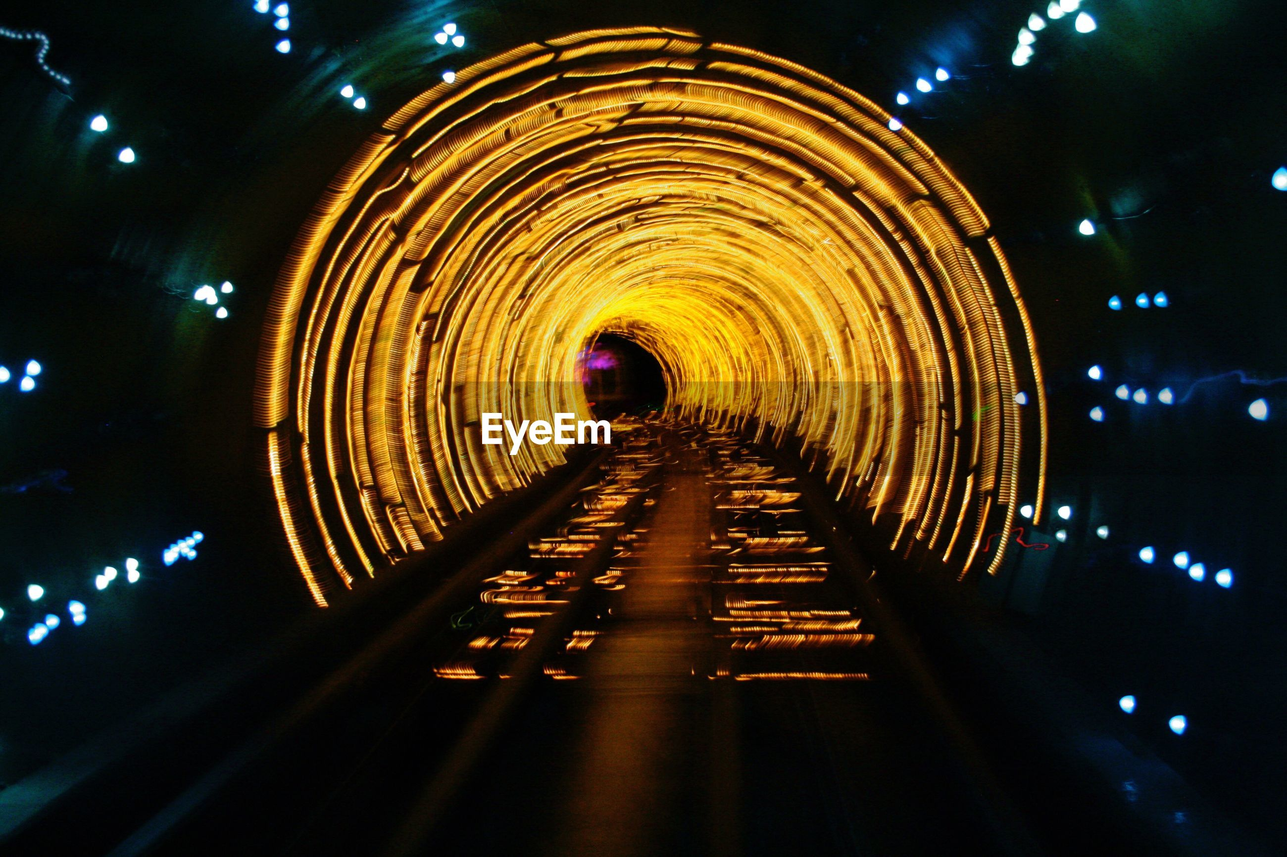 LIGHT TRAILS IN TUNNEL