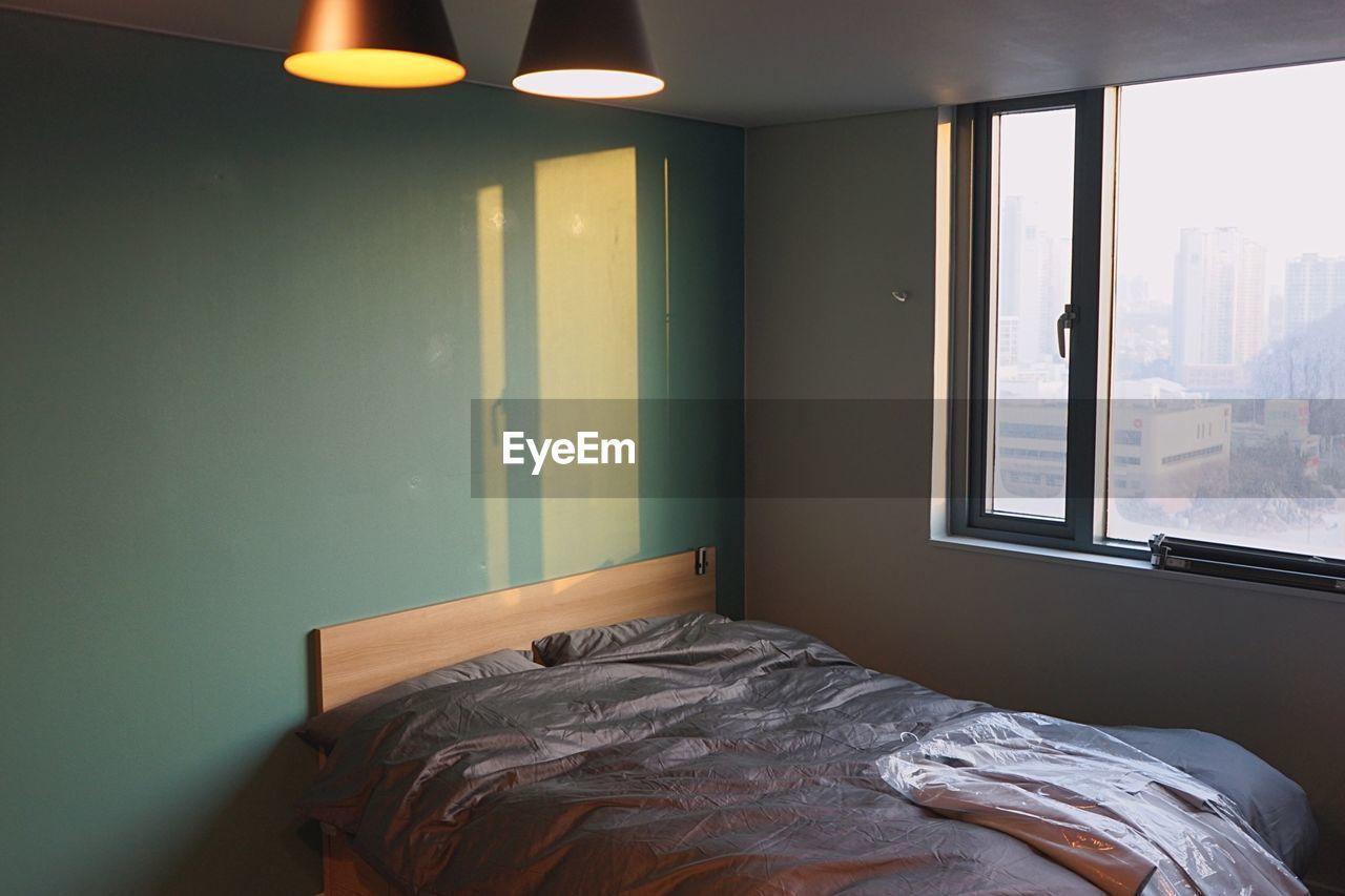 Illuminated Light Fixture In Bedroom