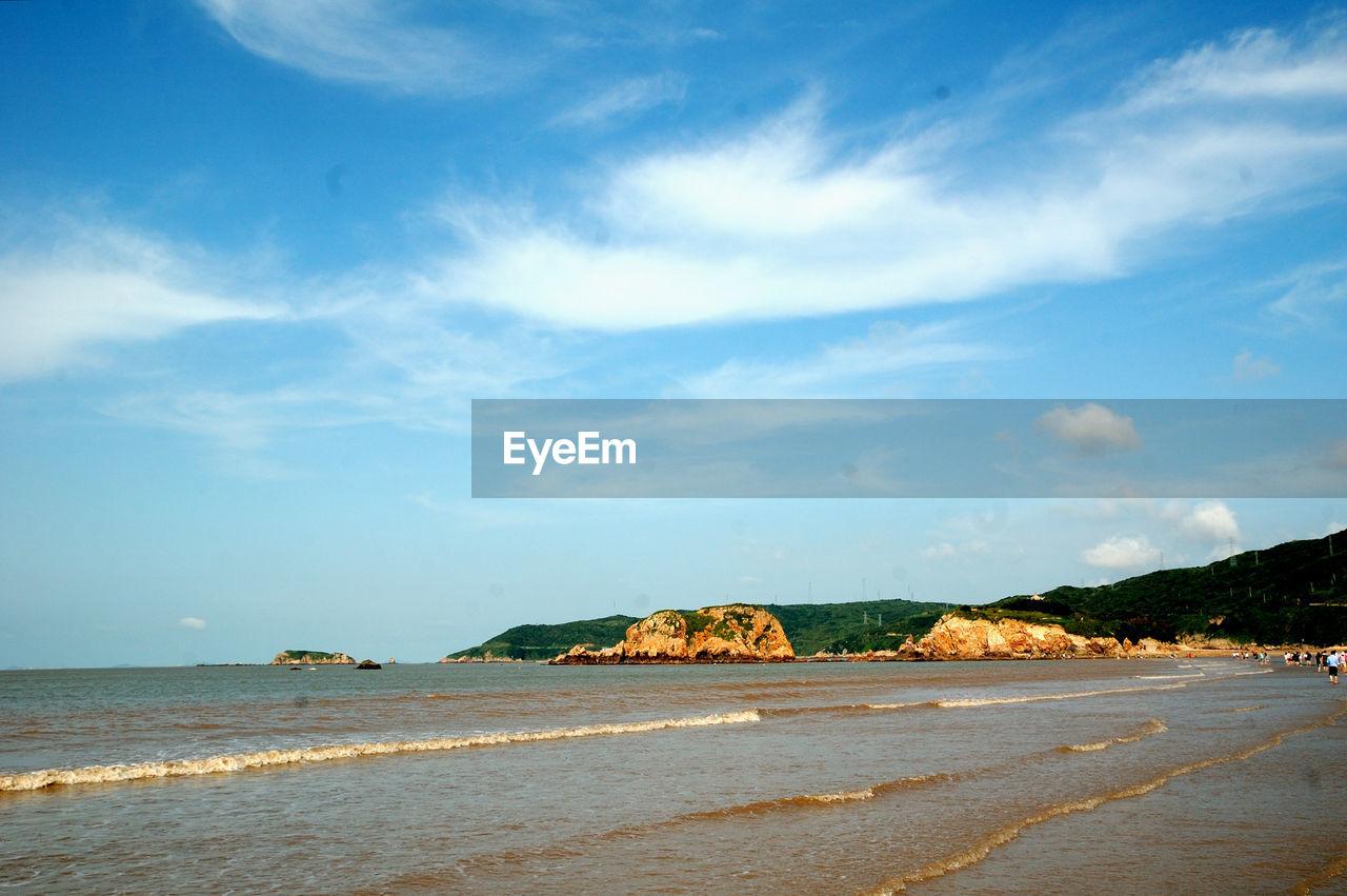 BEACH BY SEA AGAINST SKY