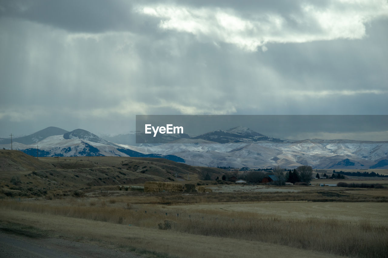 environment, sky, cloud - sky, landscape, mountain, scenics - nature, beauty in nature, tranquil scene, tranquility, non-urban scene, nature, no people, mountain range, day, road, transportation, snow, winter, land, outdoors, snowcapped mountain