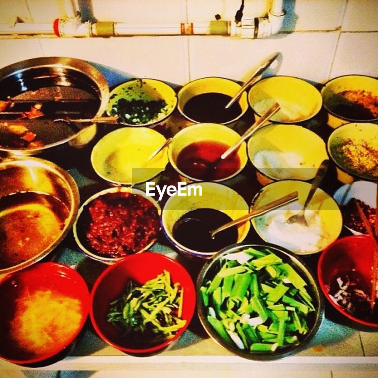 choice, indoors, variation, food and drink, high angle view, food, table, no people, bowl, large group of objects, freshness, healthy eating, day, close-up, ready-to-eat