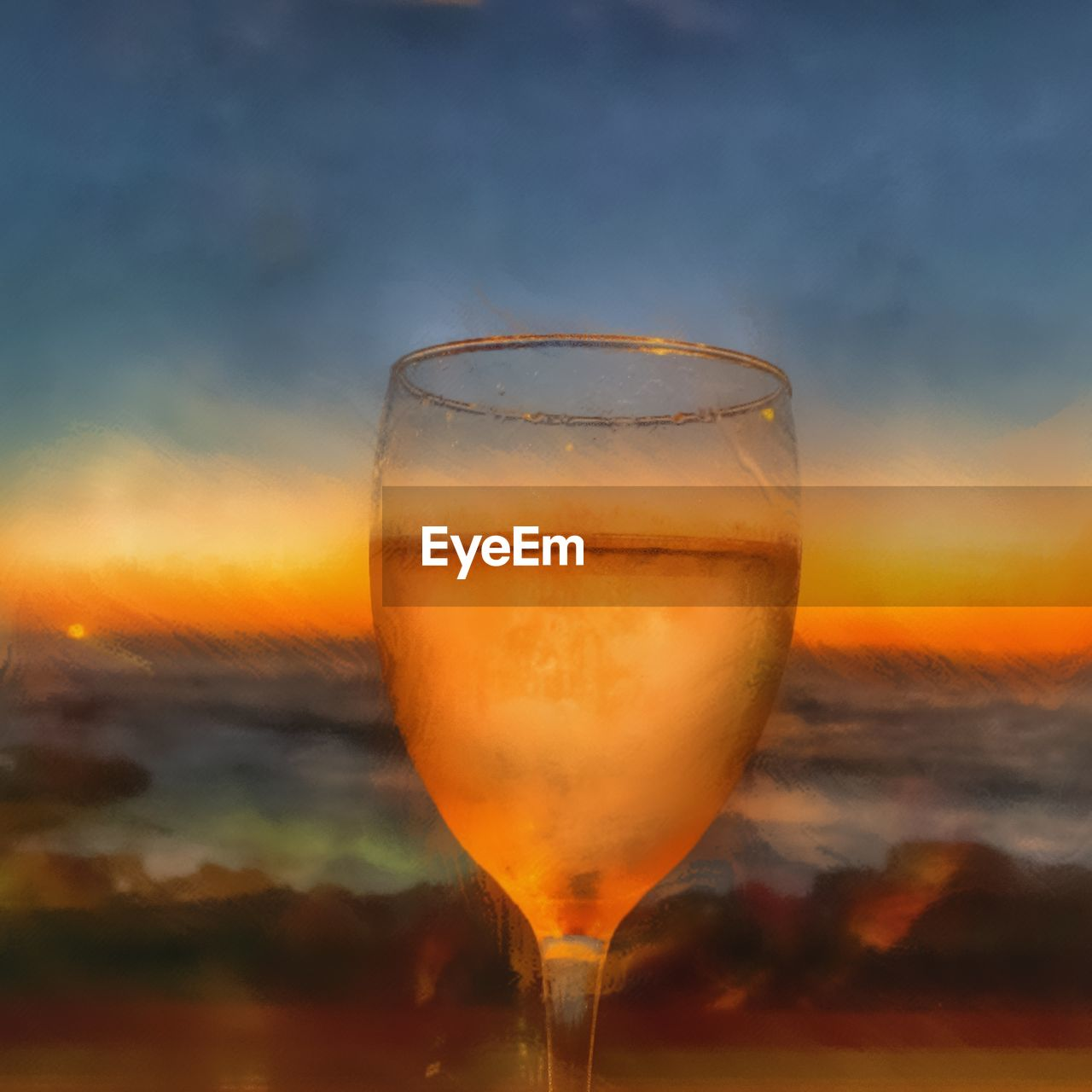 drink, refreshment, glass, sky, food and drink, sunset, alcohol, no people, freshness, orange color, cloud - sky, close-up, transparent, household equipment, drinking glass, beauty in nature, nature, wineglass, wine, still life