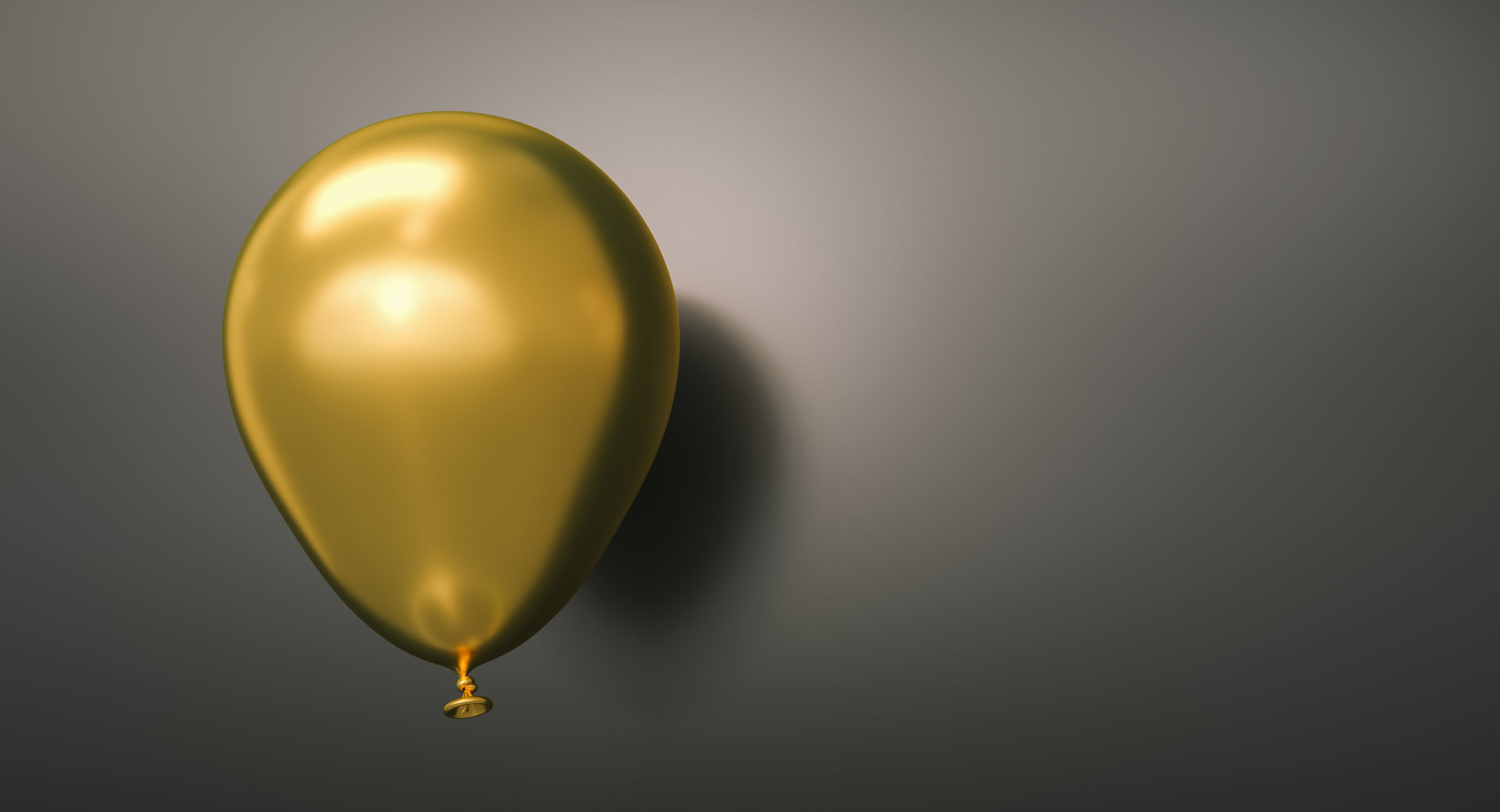 Close-up of balloon against gray background