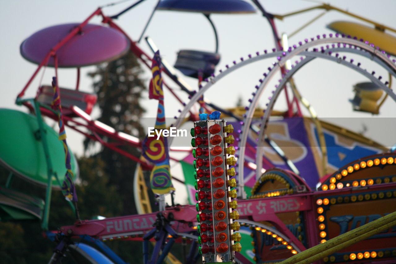 Close-up Of Amusement Park Ride