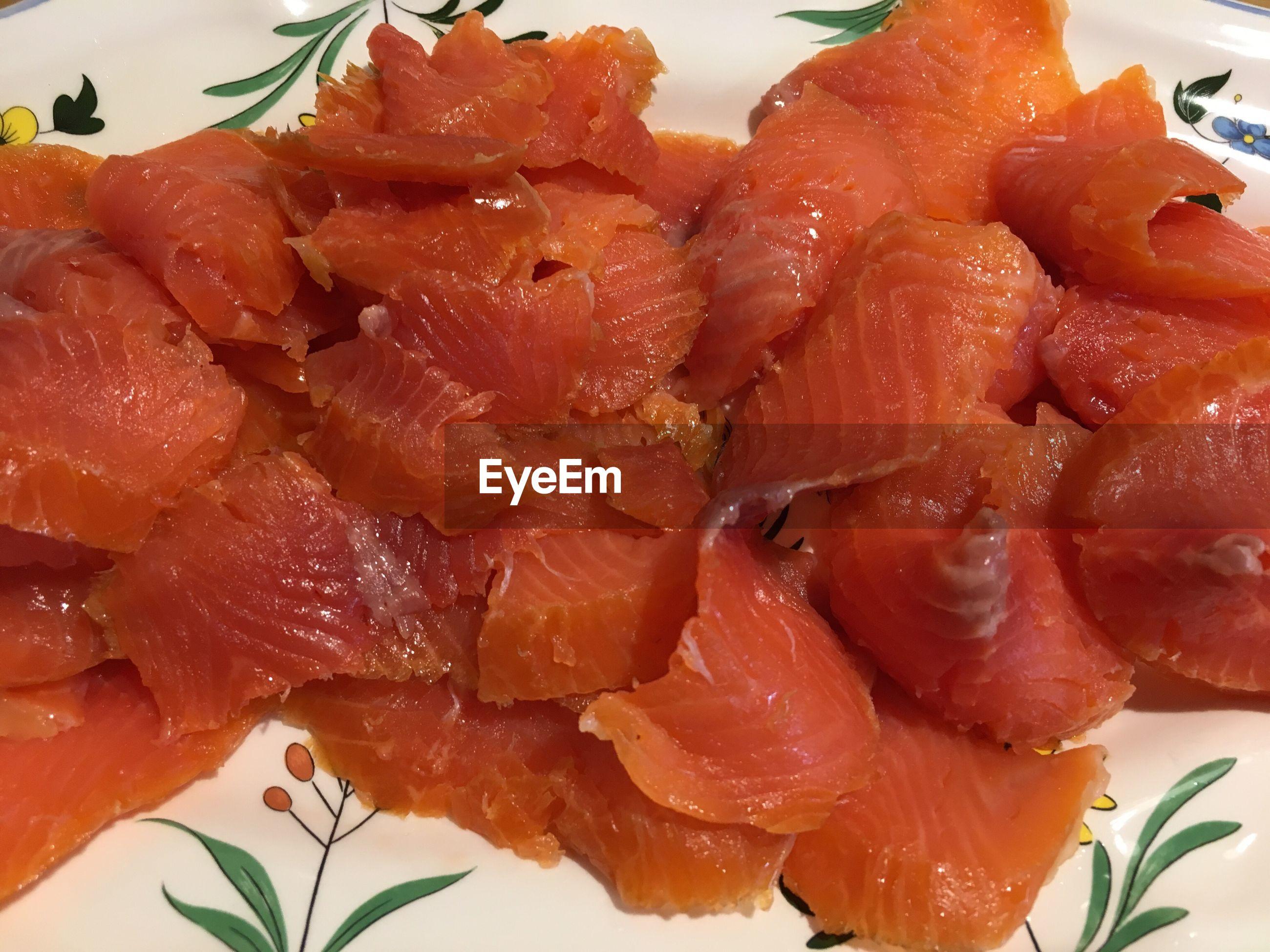 Close up of salmon