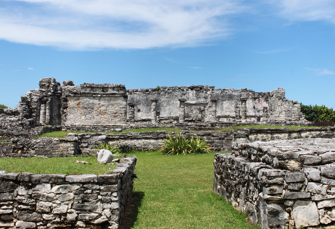 history, the past, architecture, ancient, sky, built structure, old ruin, nature, travel destinations, travel, tourism, cloud - sky, ancient civilization, day, grass, building exterior, old, archaeology, wall, plant, no people, ruined, stone wall, outdoors