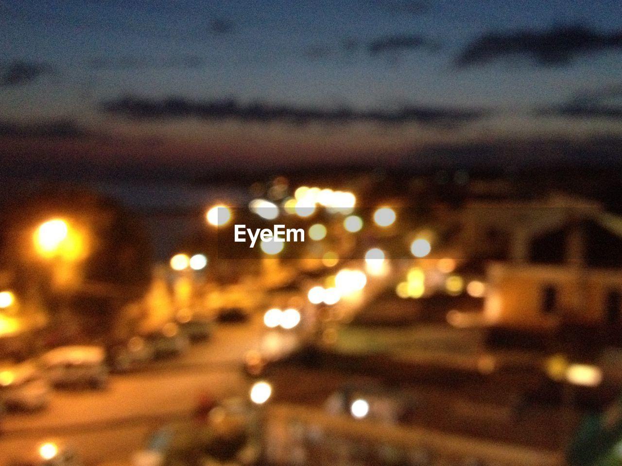 illuminated, night, transportation, road, no people, defocused, sky, outdoors, street light, architecture, city