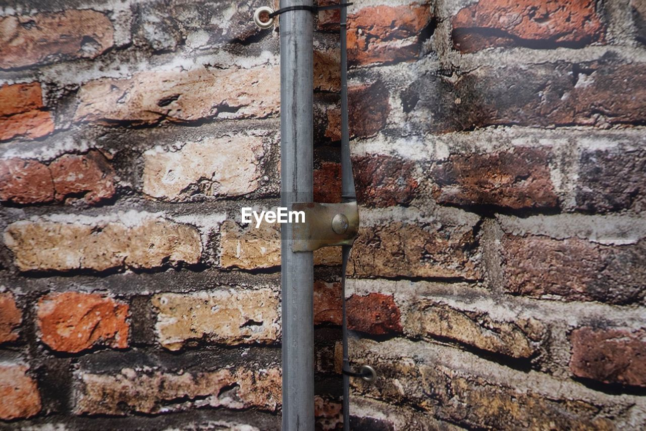 wall, brick wall, brick, wall - building feature, built structure, close-up, no people, backgrounds, full frame, textured, architecture, day, pattern, metal, old, weathered, outdoors, stone wall, building exterior, rough