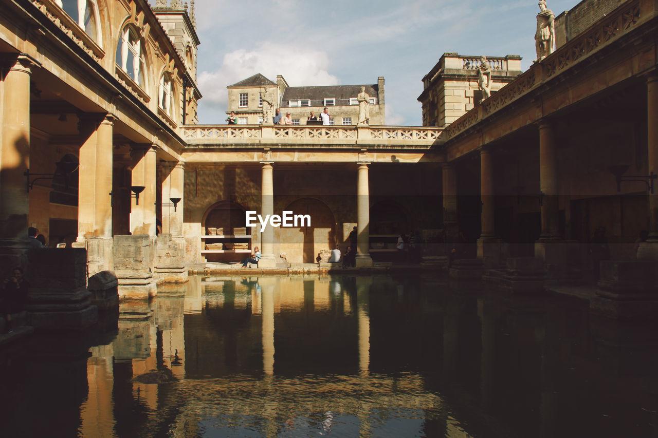 Exterior Of Roman Baths