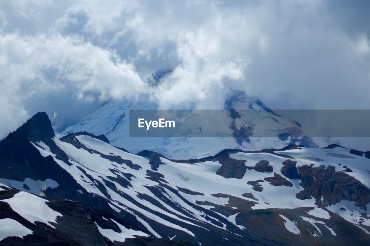 snow, mountain, cold temperature, winter, beauty in nature, nature, scenics, outdoors, day, tranquility, snowcapped mountain, sky, tranquil scene, no people, cloud - sky, glacier, landscape, iceberg