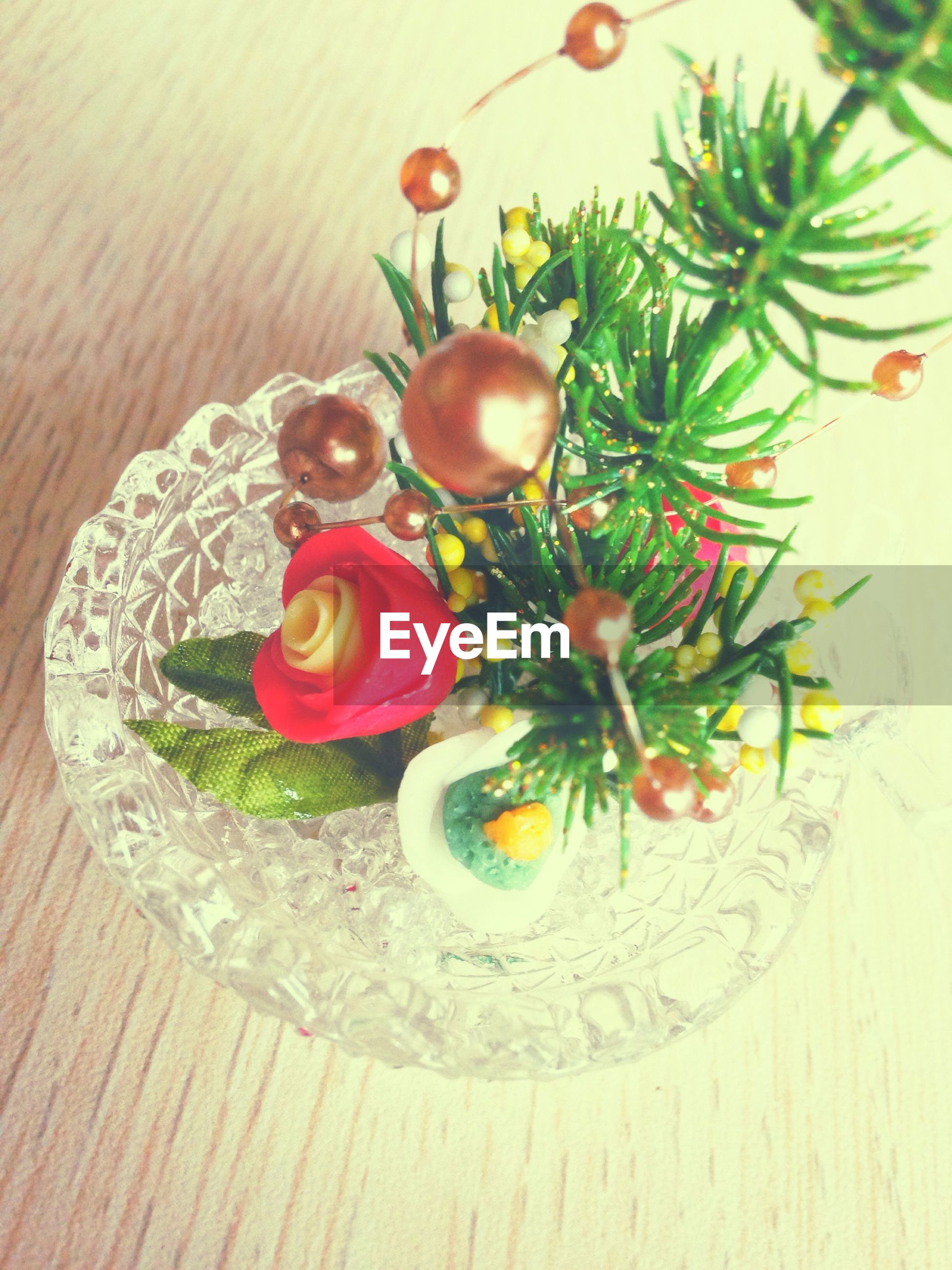 table, indoors, freshness, flower, high angle view, still life, wood - material, leaf, vase, decoration, potted plant, plant, directly above, food and drink, growth, no people, close-up, fragility, wooden, food