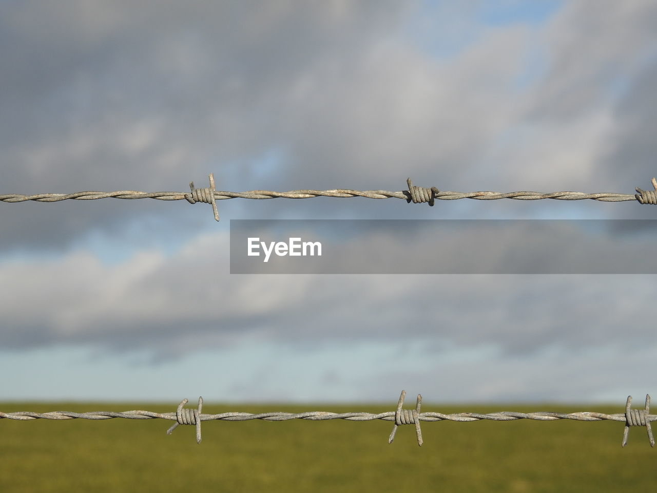 protection, barbed wire, security, safety, metal, outdoors, sky, day, no people, focus on foreground, cloud - sky, razor wire, nature