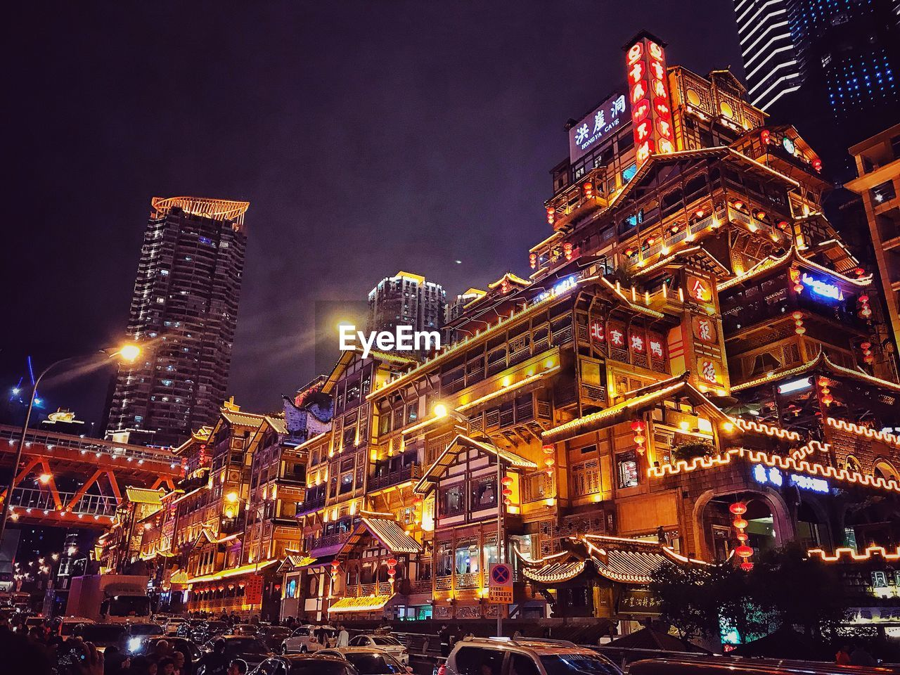 illuminated, night, building exterior, architecture, built structure, city, building, sky, low angle view, tall - high, nature, no people, outdoors, tower, office building exterior, glowing, cityscape, travel destinations, city life, skyscraper