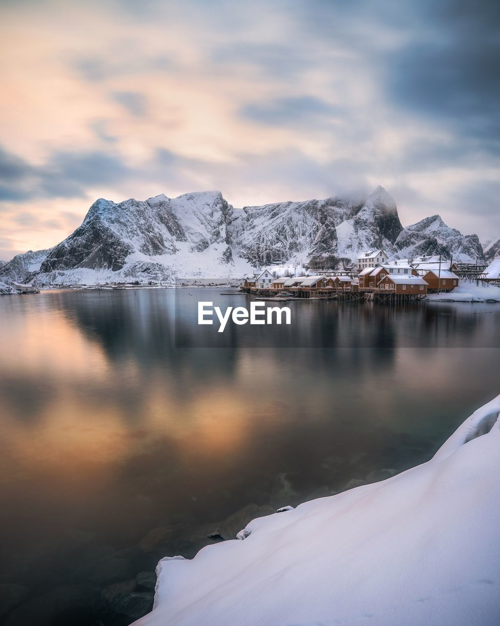 cold temperature, winter, water, snow, beauty in nature, scenics - nature, sky, mountain, cloud - sky, tranquil scene, tranquility, ice, lake, frozen, glacier, nature, environment, no people, snowcapped mountain, iceberg, melting