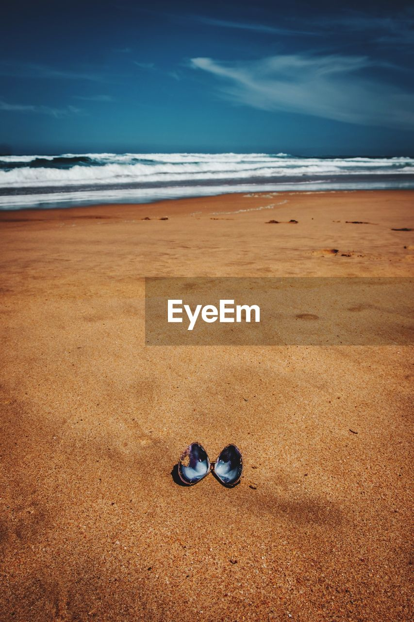 Look on beach against sky