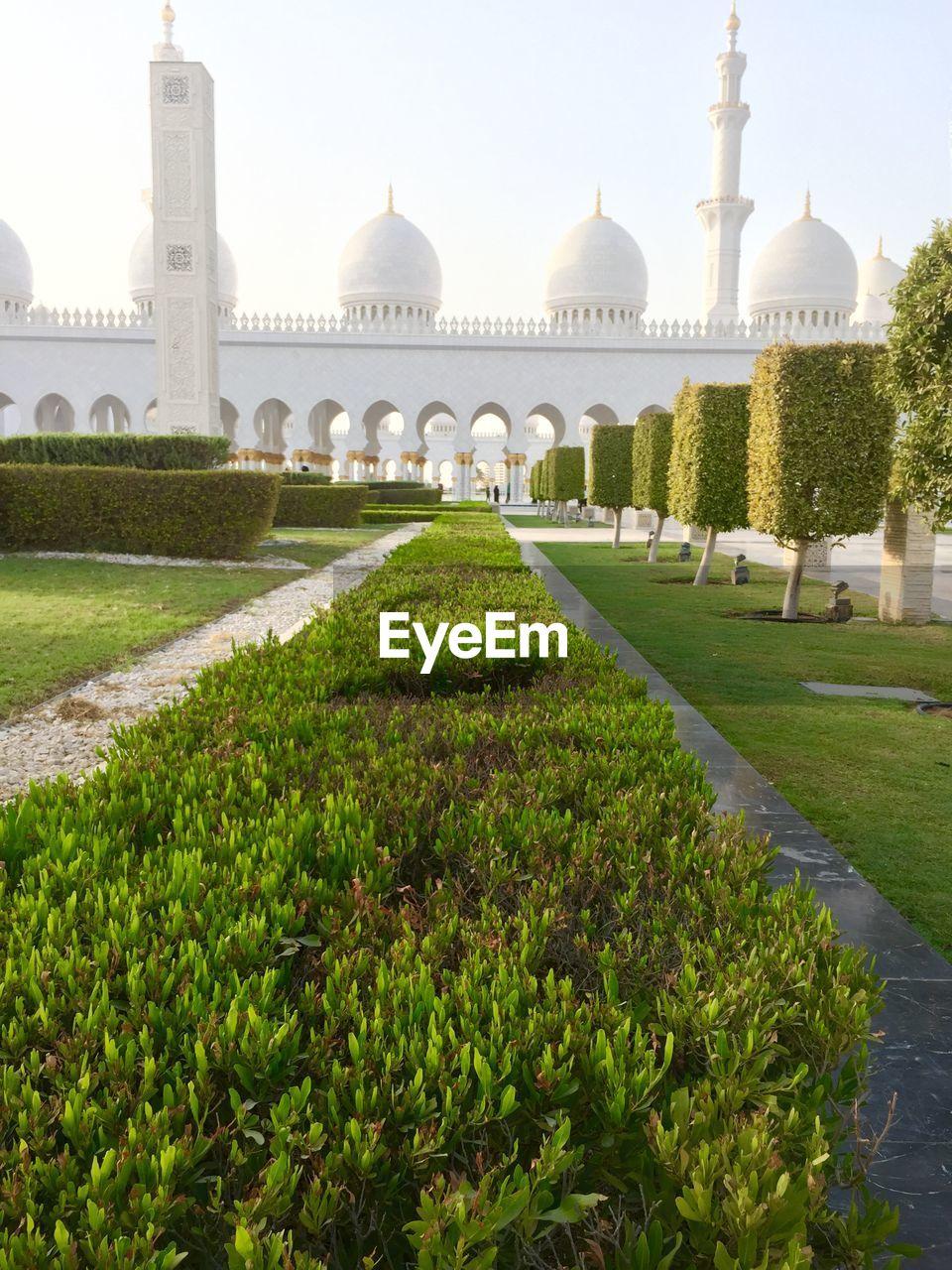 Ornamental Garden At Sheikh Zayed Mosque