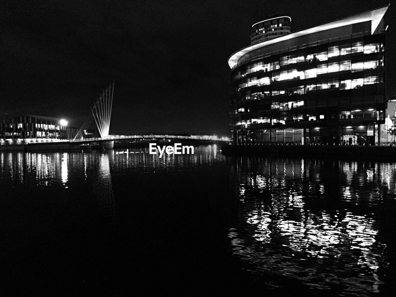 night, architecture, water, built structure, reflection, building exterior, illuminated, no people, sky, outdoors, nautical vessel, nature, city
