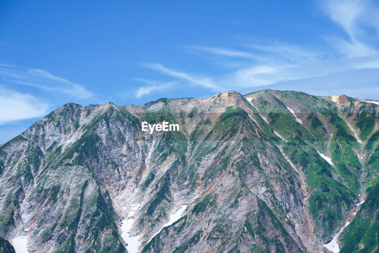 mountain, sky, scenics - nature, beauty in nature, tranquil scene, tranquility, rock, cloud - sky, mountain range, nature, day, no people, rock - object, non-urban scene, idyllic, solid, rock formation, environment, physical geography, geology, outdoors, formation, mountain peak, eroded, mountain ridge