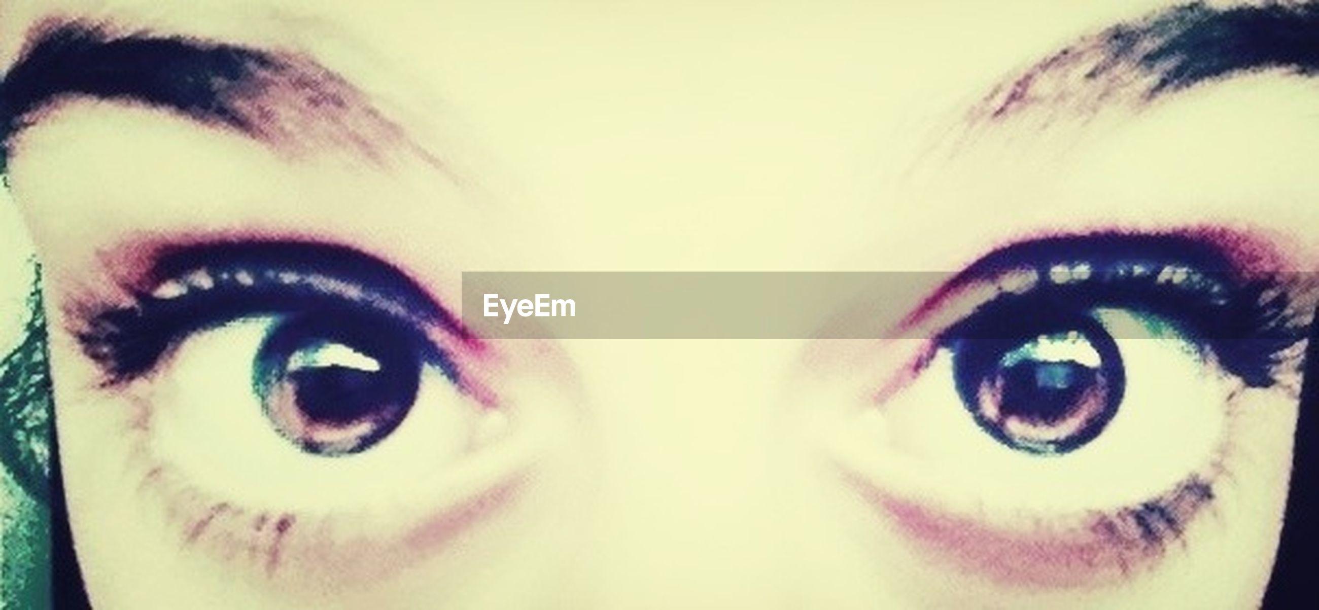 human eye, looking at camera, close-up, headshot, portrait, human face, lifestyles, eyelash, part of, eyesight, person, young adult, front view, leisure activity, sensory perception, blue eyes, indoors