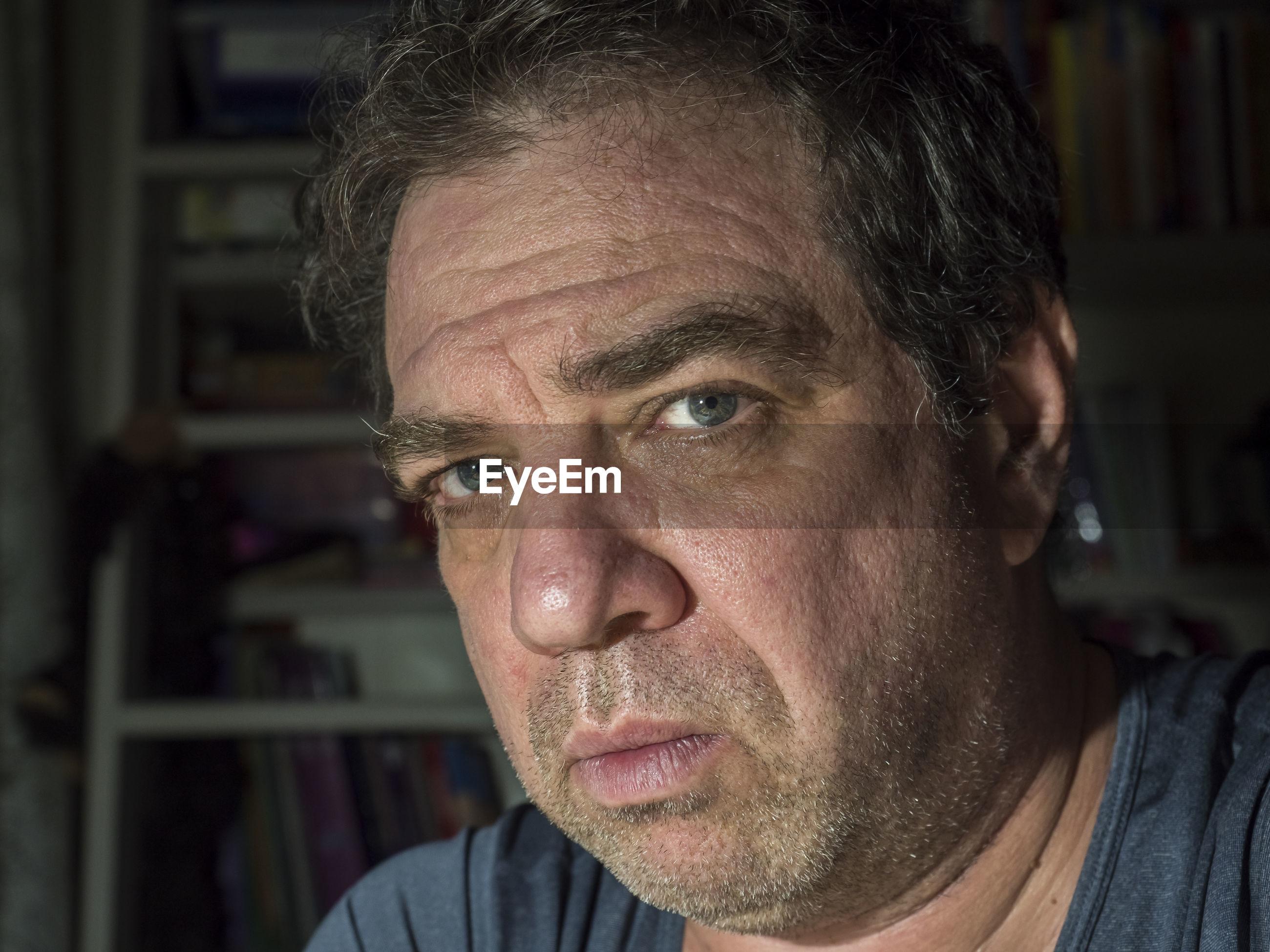 Close-up portrait of mature man