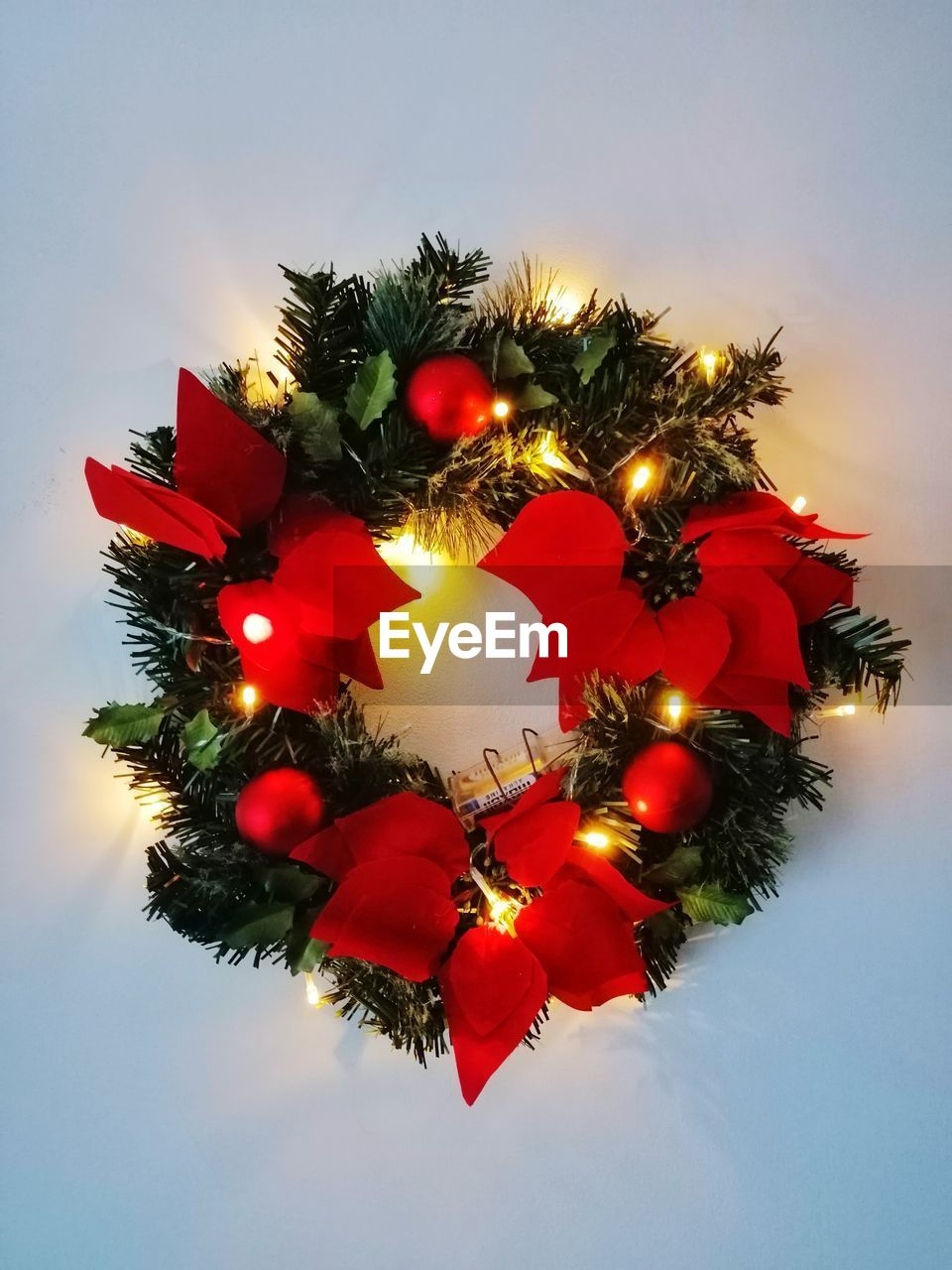 decoration, christmas, holiday, celebration, sky, illuminated, tree, christmas decoration, christmas tree, no people, christmas lights, christmas ornament, nature, low angle view, red, close-up, plant, holiday - event