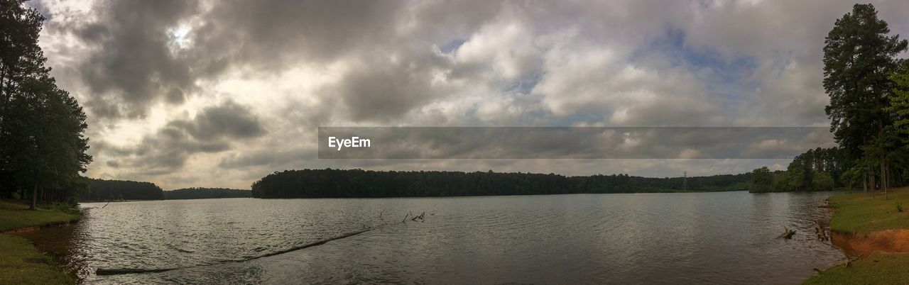 water, sky, cloud - sky, tree, river, tranquility, scenics, nature, outdoors, tranquil scene, no people, beauty in nature, day, landscape