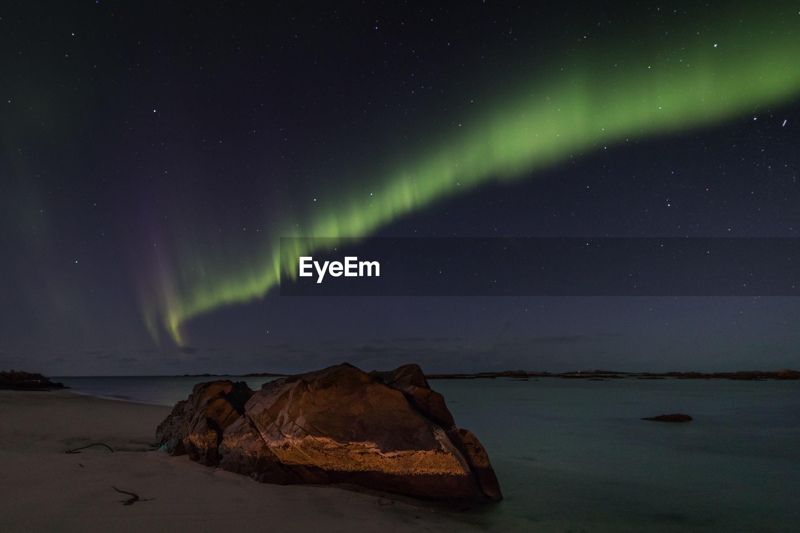Scenic view of aurora borealis
