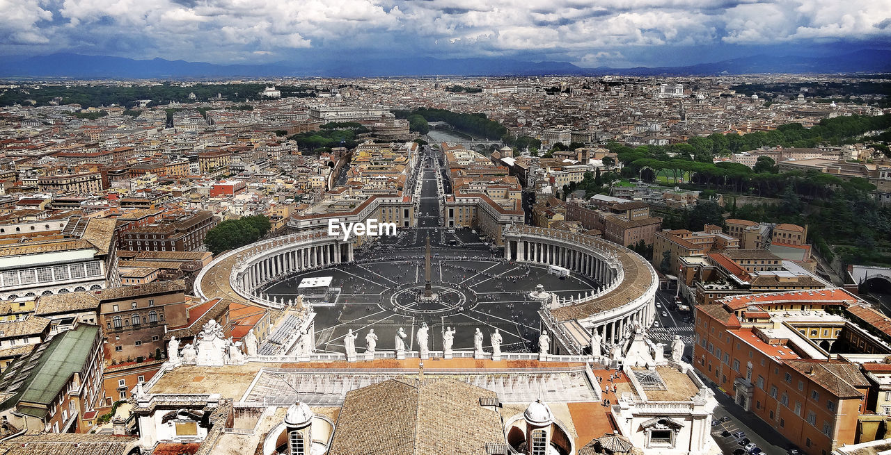 High angle view of st. peter's square