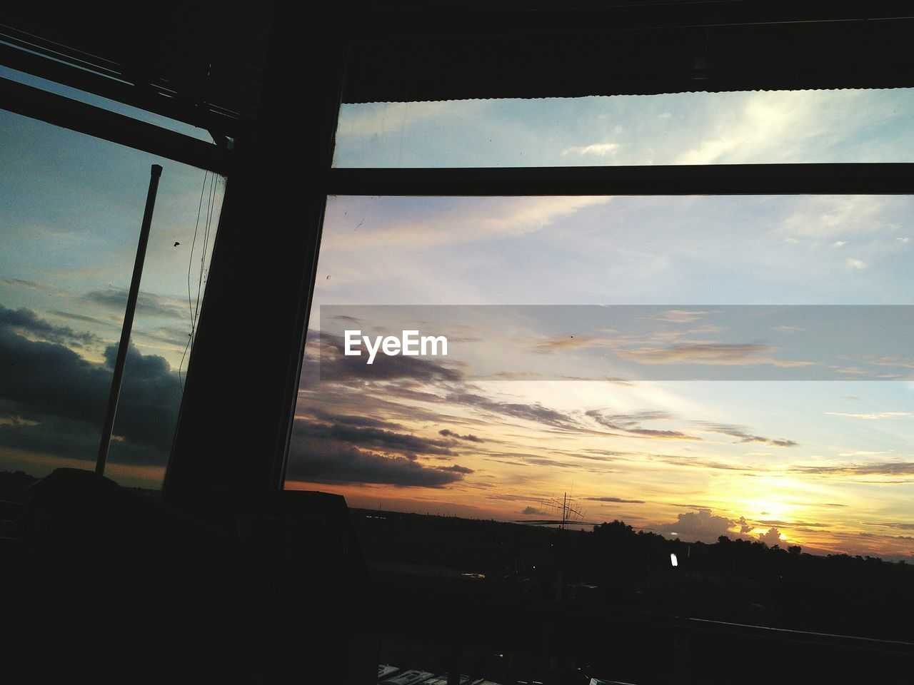 sky, sunset, cloud - sky, window, no people, silhouette, nature, built structure, indoors, scenics, architecture, beauty in nature, city, day, close-up