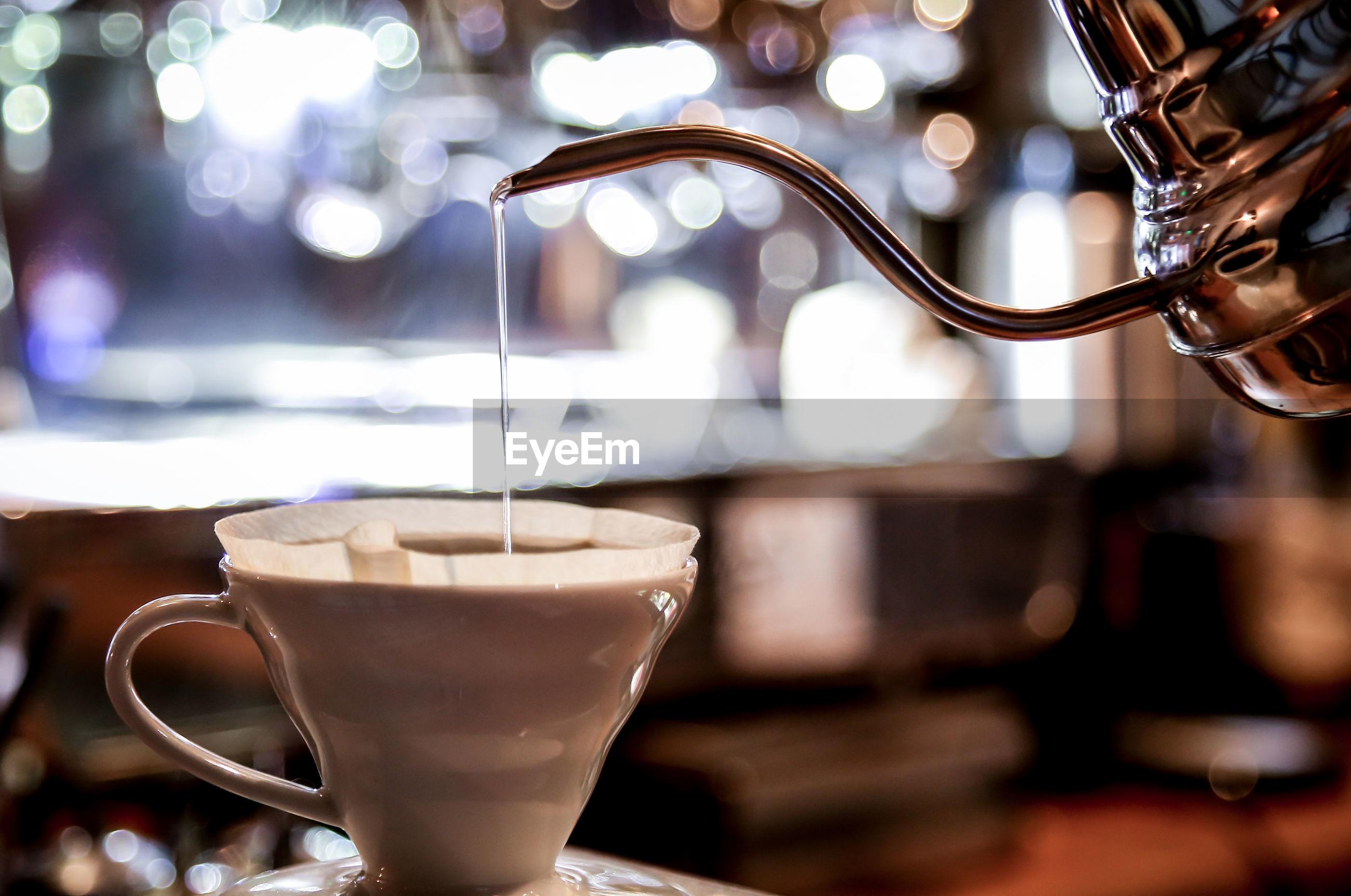 Coffee hario serving
