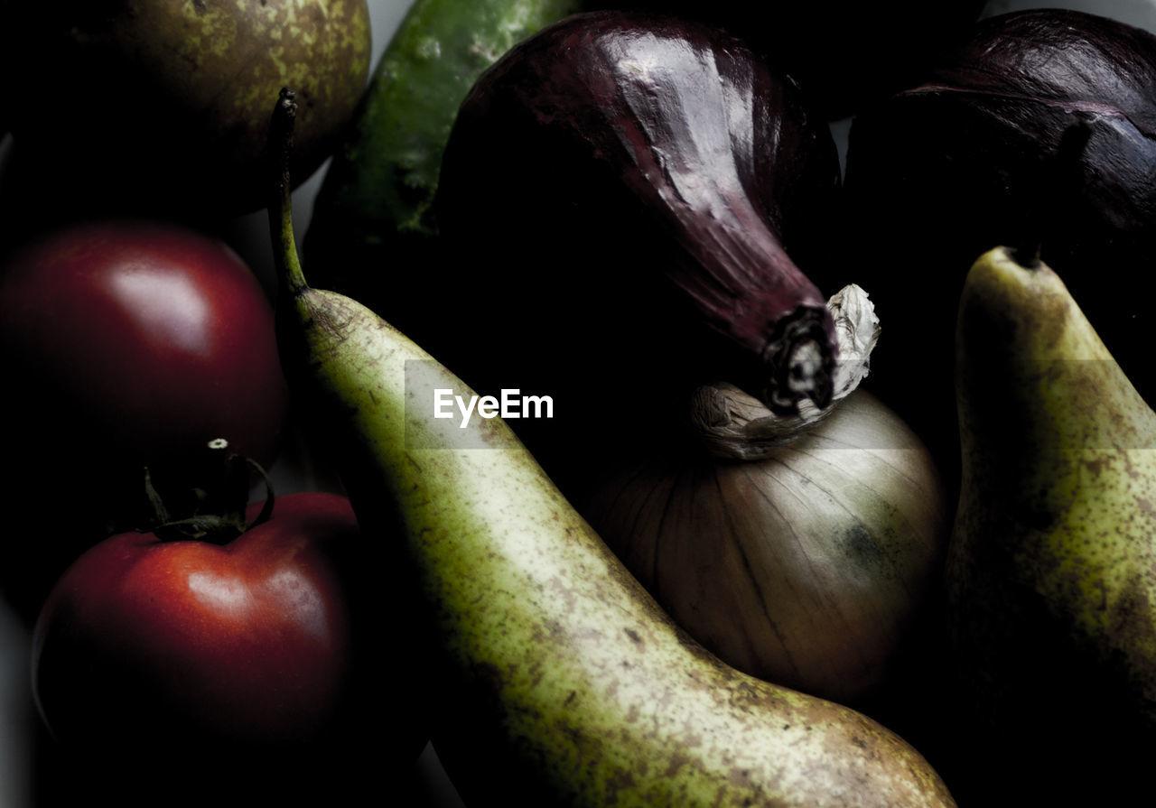 Full Frame Shot Of Vegetables And Fruits