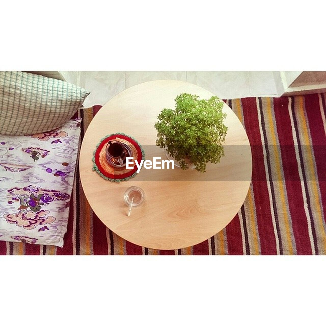 table, food and drink, plate, high angle view, indoors, freshness, directly above, healthy eating, food, no people, tablecloth, breakfast, wood - material, napkin, close-up, ready-to-eat, day