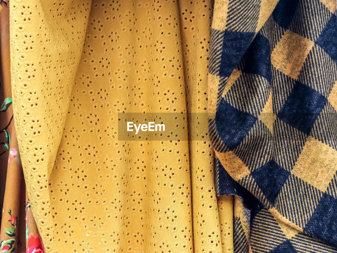 Full frame shot of textiles