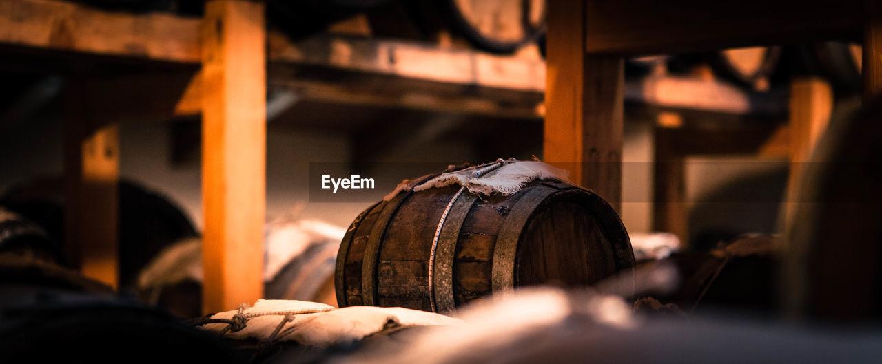 Barrels In Warehouse