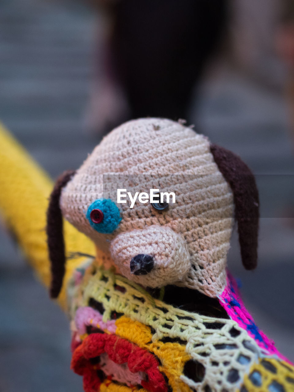 art and craft, close-up, multi colored, focus on foreground, wool, toy, woolen, stuffed toy, childhood, no people, indoors, day