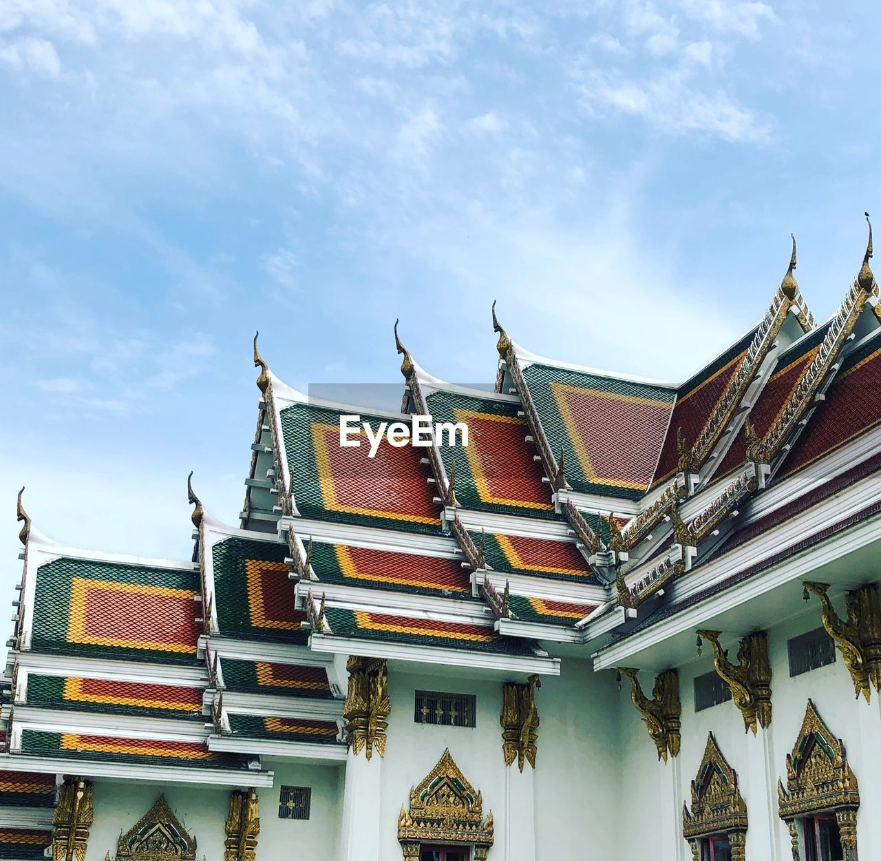 architecture, built structure, building, building exterior, sky, cloud - sky, day, low angle view, place of worship, no people, nature, religion, belief, spirituality, roof, outdoors, roof tile