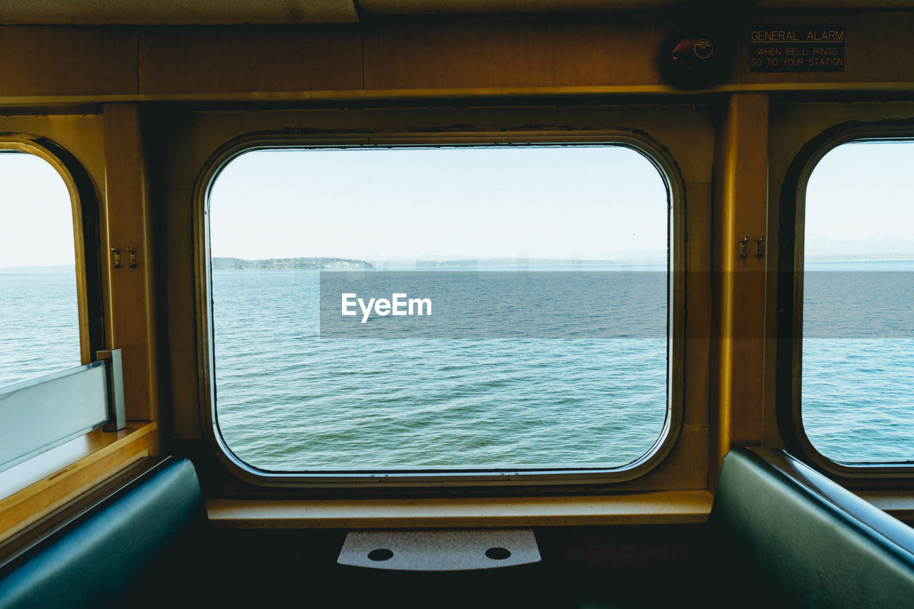 View Of Sea Seen Through Window