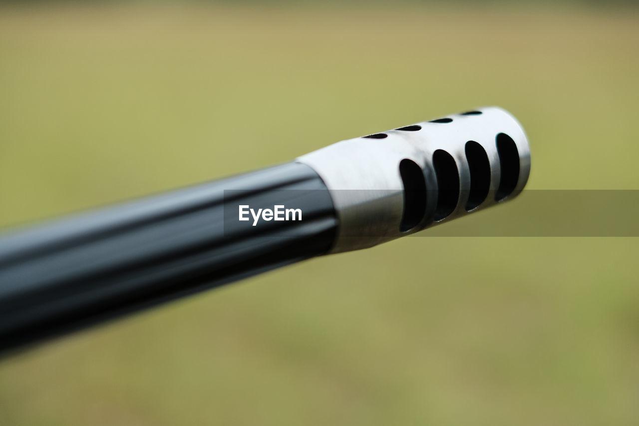 Close-Up Of Gun Barrel