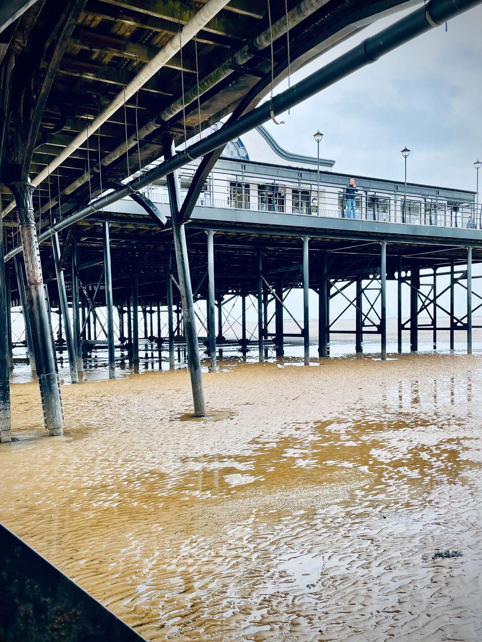 PIER OVER SEA AGAINST BUILDINGS