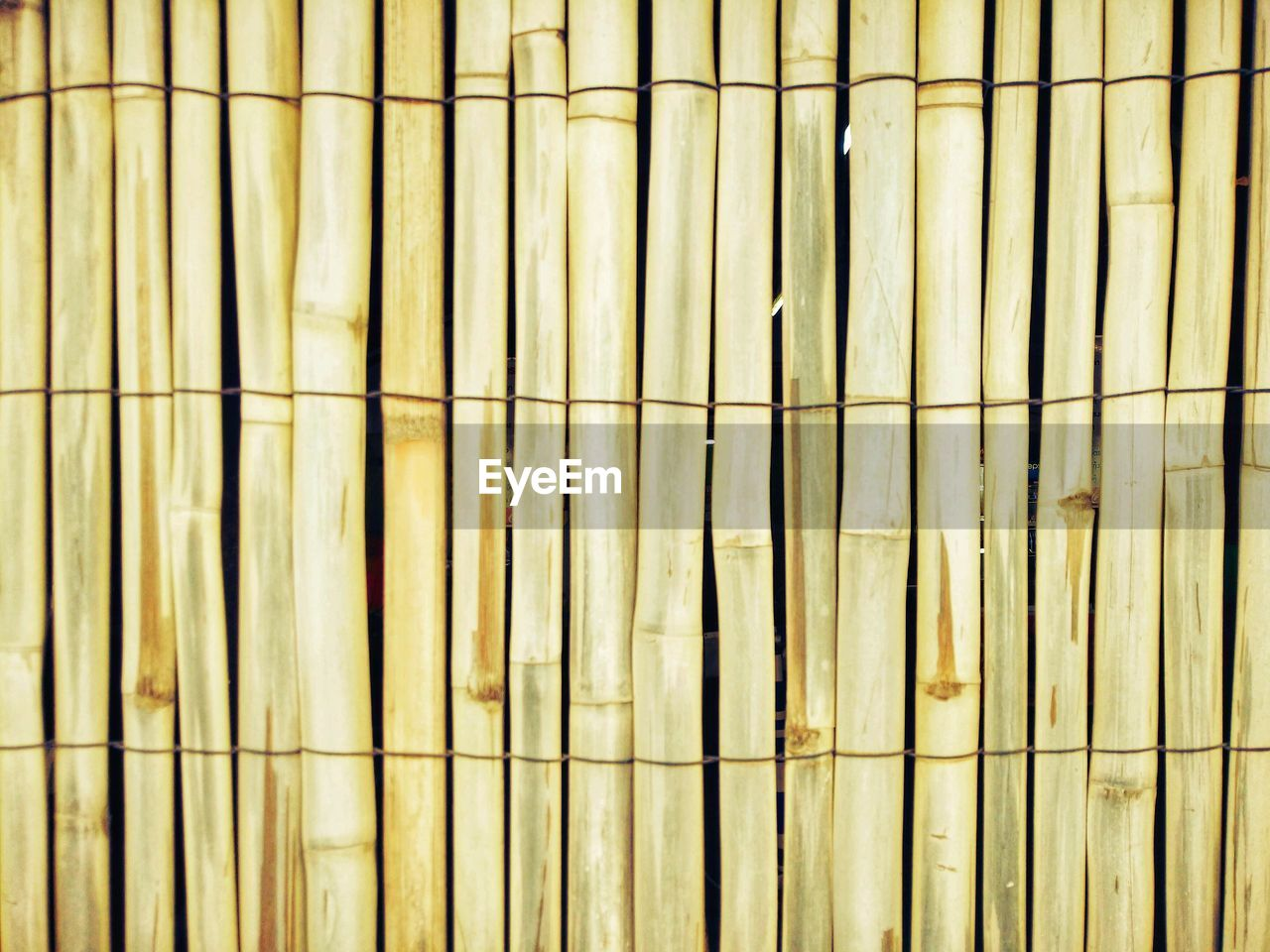 backgrounds, full frame, pattern, no people, indoors, repetition, close-up, textured, wall - building feature, side by side, wood - material, day, in a row, flooring, architecture, built structure, tile, metal, yellow, bamboo - plant