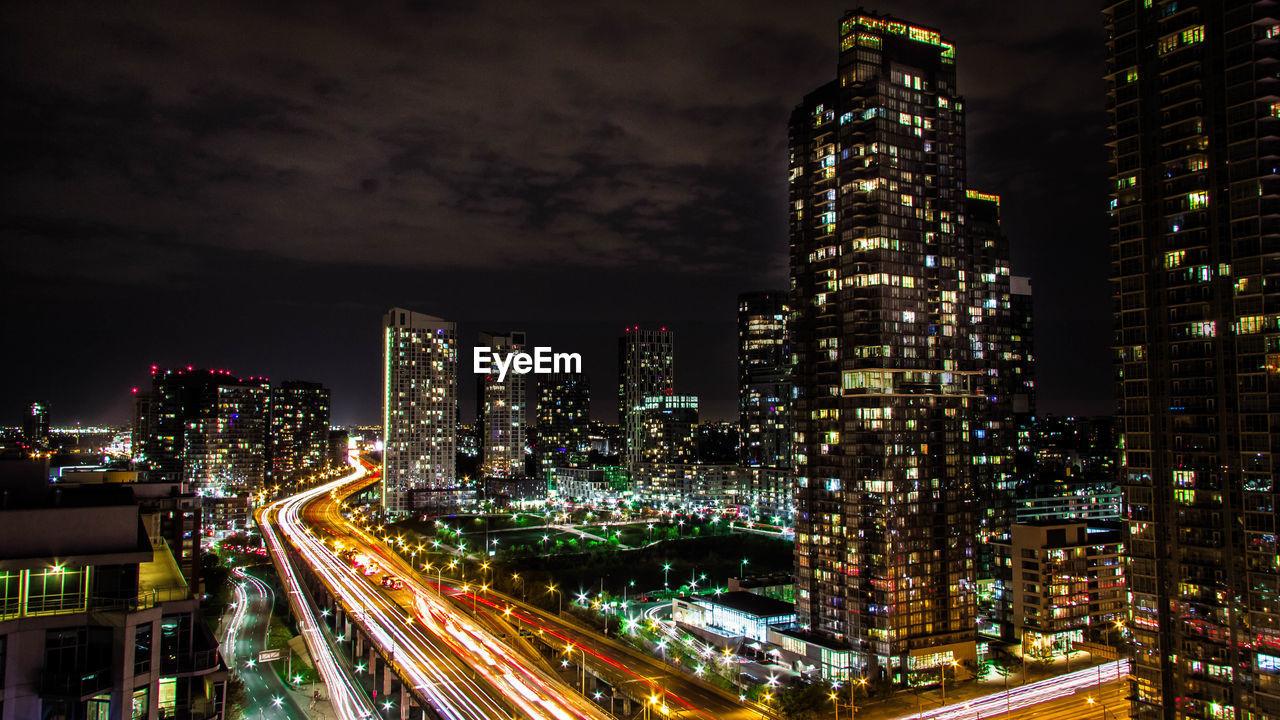 Scenic View Of Illuminated City At Night