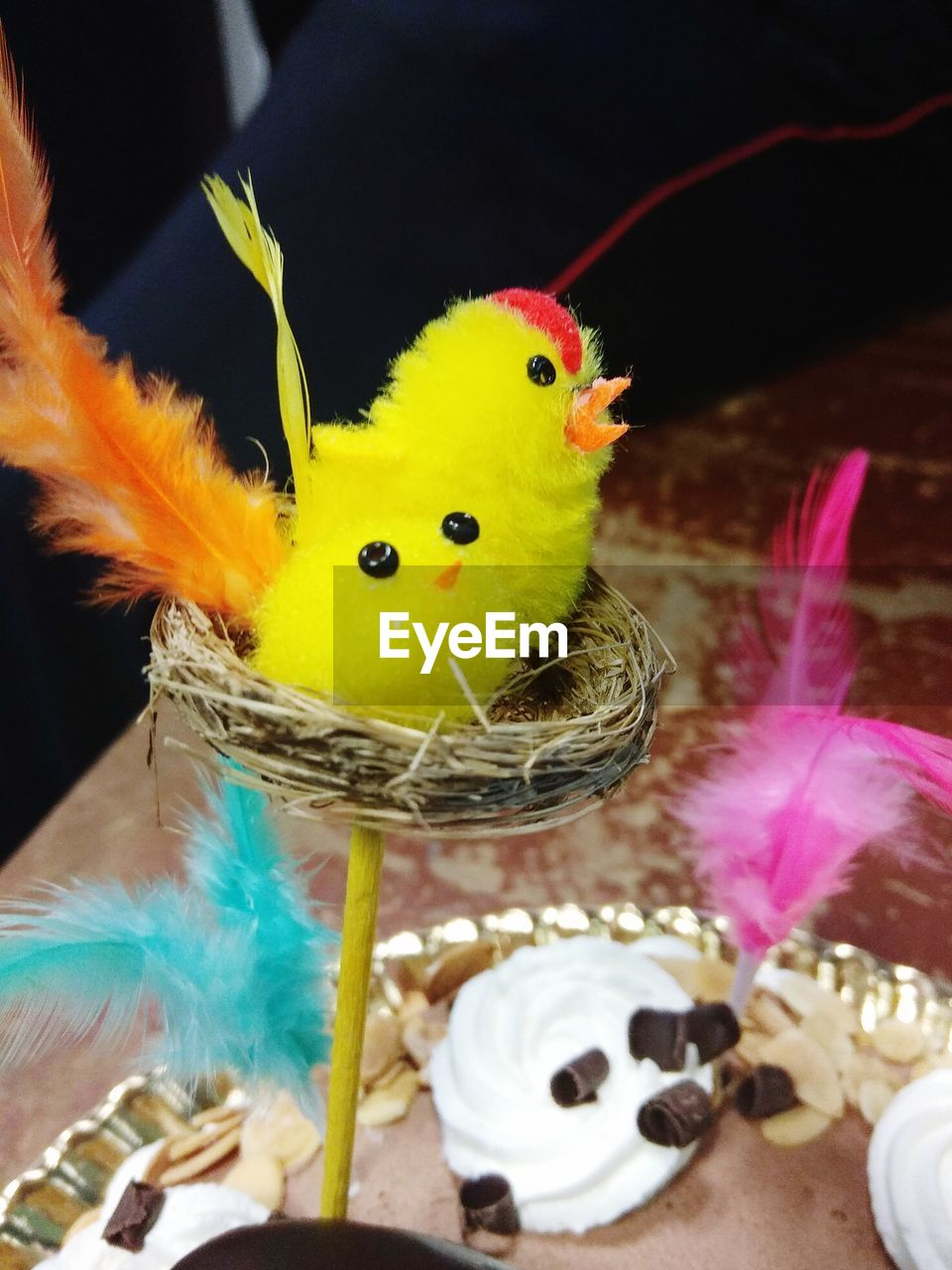 bird, animal themes, animal, vertebrate, indoors, close-up, no people, representation, animal representation, toy, yellow, young bird, stuffed toy, baby chicken, young animal, holiday, focus on foreground, group of animals, celebration, easter, beak, softness