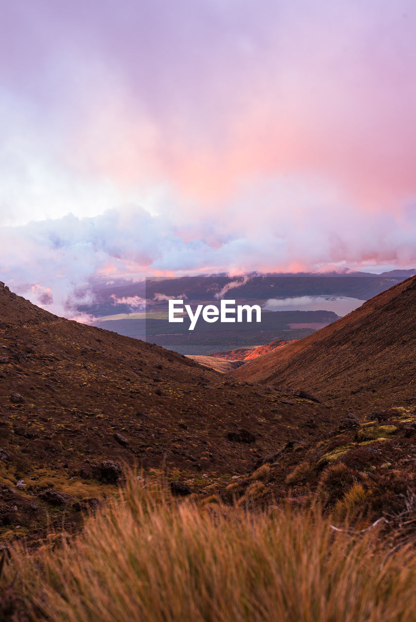 sky, scenics - nature, mountain, beauty in nature, cloud - sky, tranquil scene, tranquility, landscape, non-urban scene, environment, no people, nature, sunset, land, idyllic, mountain range, remote, plant, outdoors, day