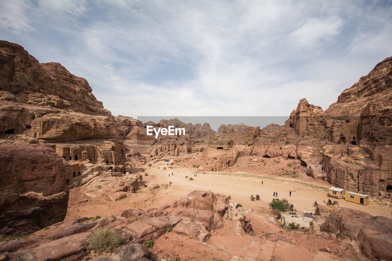 sky, rock, rock formation, cloud - sky, rock - object, solid, scenics - nature, tranquil scene, mountain, beauty in nature, non-urban scene, nature, physical geography, travel destinations, travel, geology, tranquility, landscape, environment, no people, climate, arid climate, mountain range, outdoors, formation, ancient civilization, eroded, archaeology