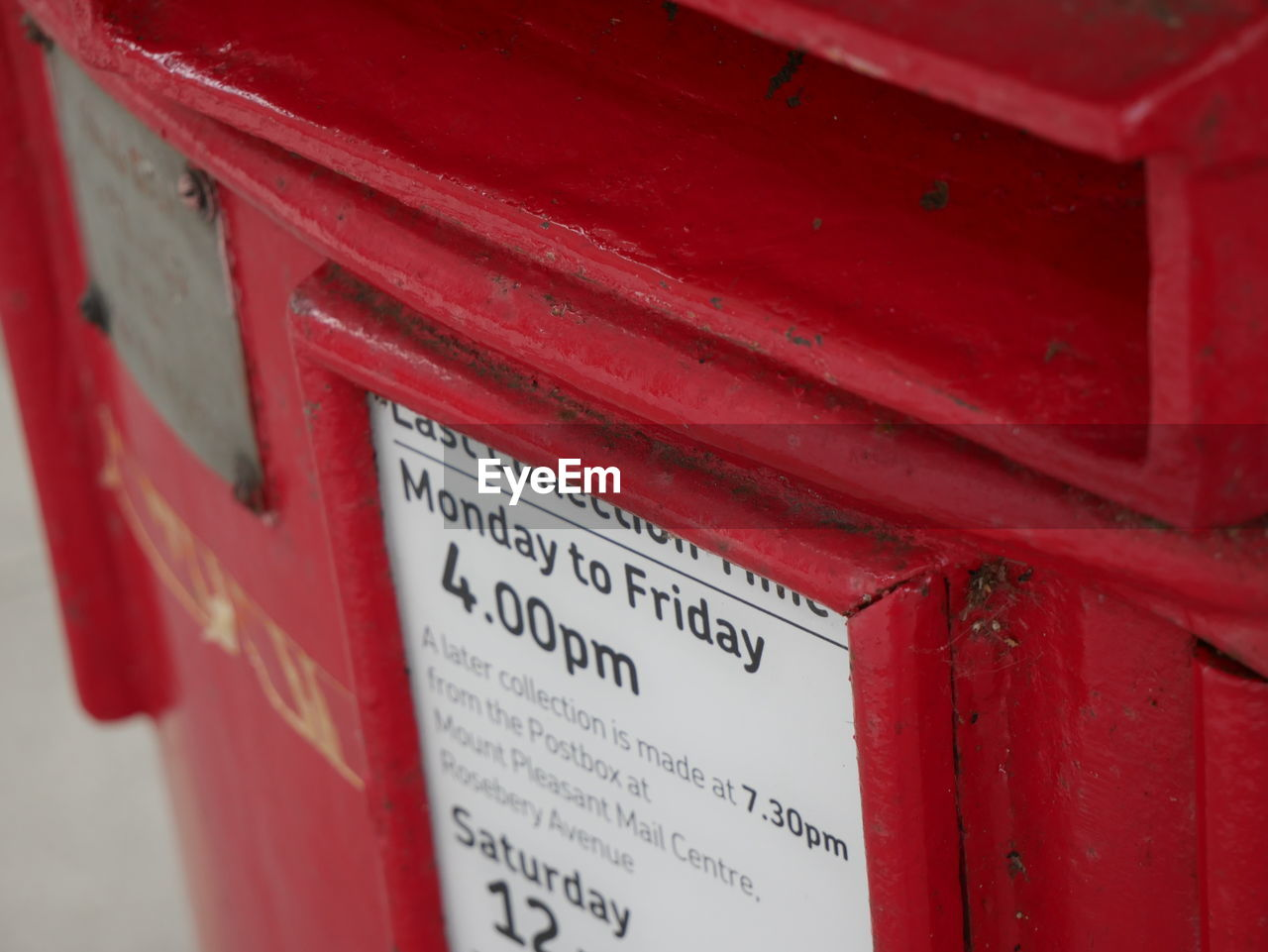 red, communication, mailbox, public mailbox, mail, correspondence, text, day, outdoors, close-up, no people, envelope