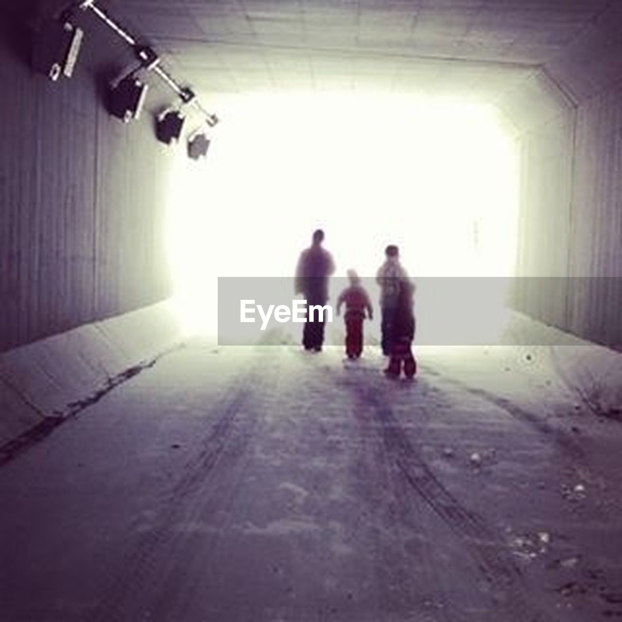 two people, full length, indoors, silhouette, people, adult, prison, day, adults only, only men