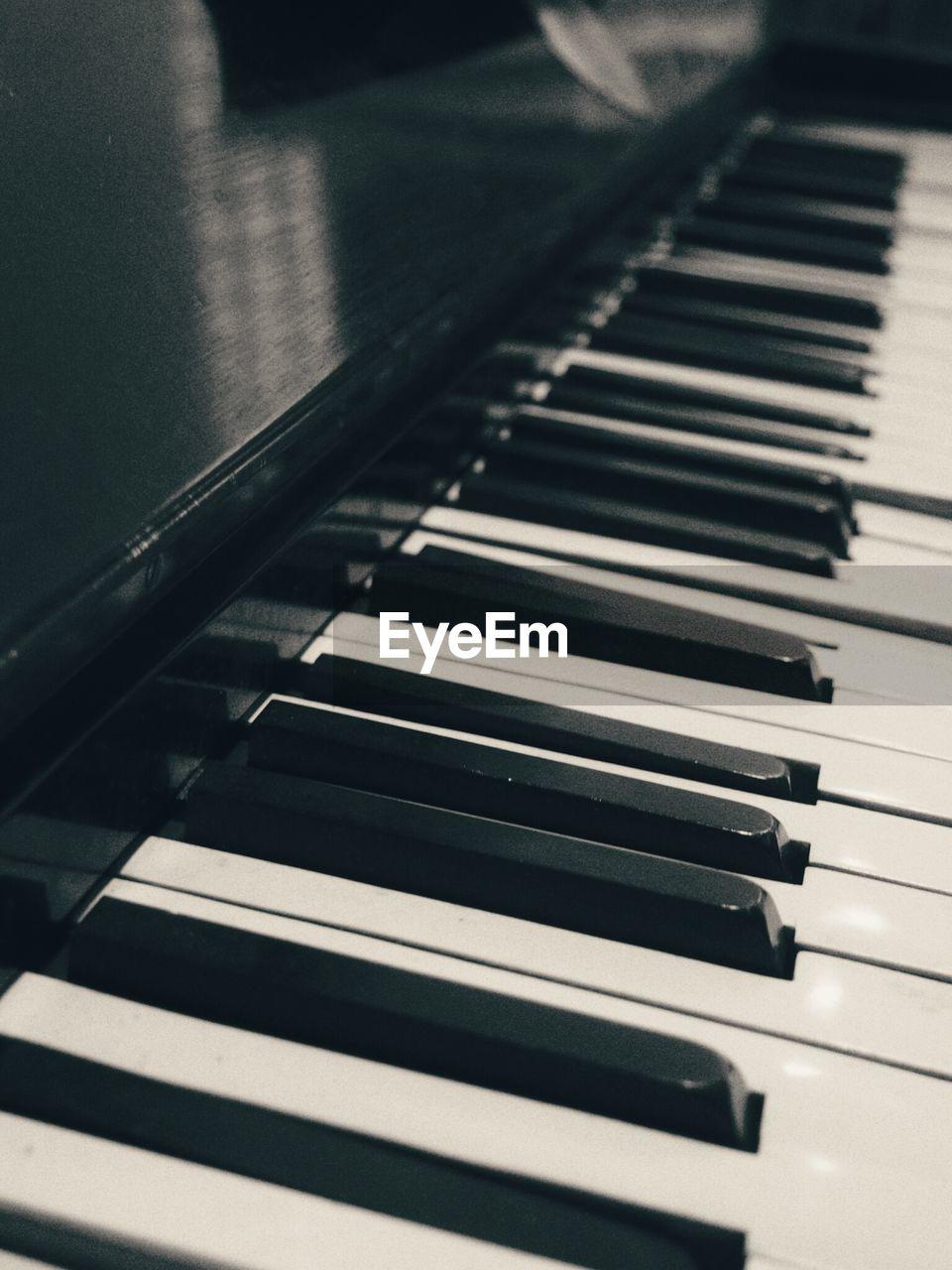 Detail Shot Of Piano Keys